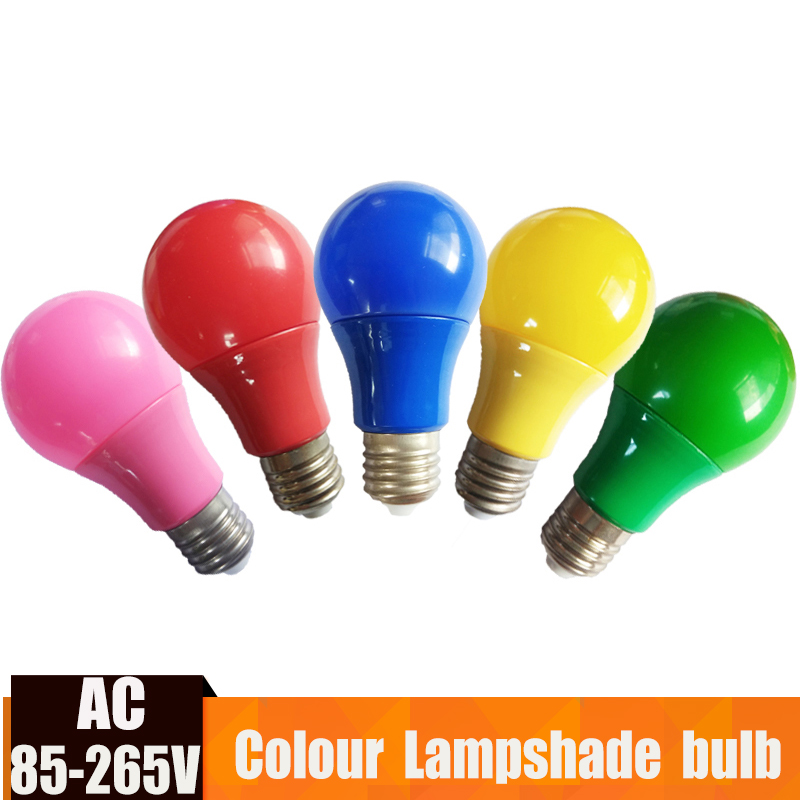 E27 Colorful Globe Light Bulb Led Bar Light 5W 7W 9W Red Blue Green Yellow Pink Lampara Led Bombillas For Bar KTV Party Lighting(China)