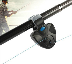 Черный маленький мини электронный беспроводной сигнал для укуса рыбы ABS, светодиодный чувствительный мат, рыболовные аксессуары, Бесплатна...