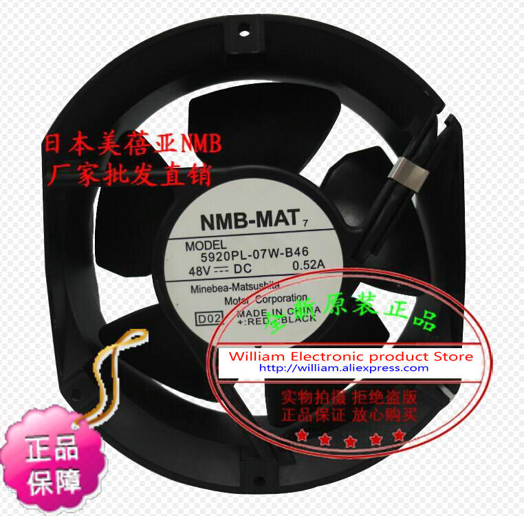 New Original NMB 5920PL-07W-B46 172*51MM DC48V 0.52A inverter axial cooling fan new and original inverter fan 5920pl 05w b40 1751 24v axial fan authentic spot 172 150 50mm