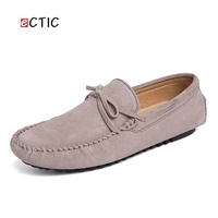 ECTIC Winter Autumn Causal Men's Driving Shoes Handmade Stitching Cow Leather Simple Design Comfy