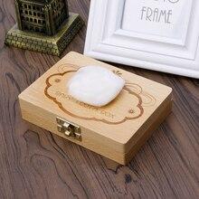 Tooth Box Organizer For Baby Save Milk Teeth Wood Storage Box For Kids W30