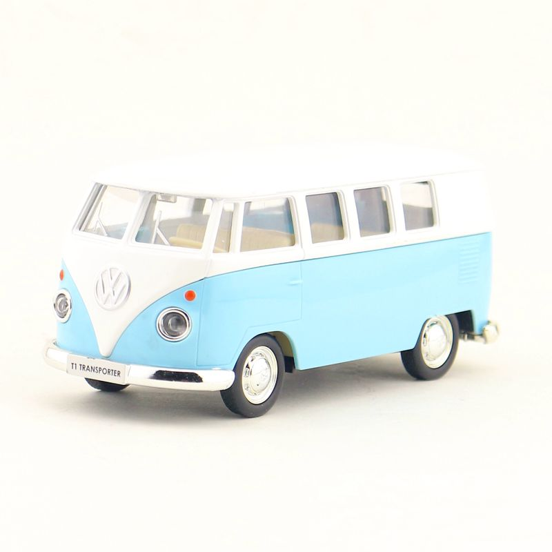 RMZ City/1:36 Scale Diecast Model Car/Volkswagen T1 Transport Bus/Pull Back Toy For Children's Gift/Collection/Educational
