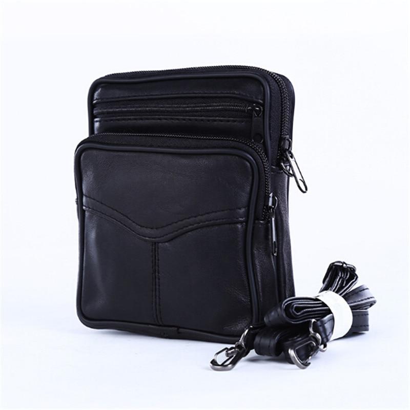 New PU Leather Mini Crossbody Bag For Men Portable Men's Business European Style Messenger Shoulder Bags Black