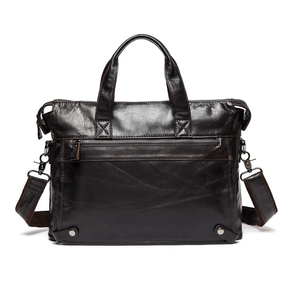 Genuine Leather Briefcases Men Mens Shoulder Bags Crazy Horse Leather Male Handbag High Quality Men's Messenger Bag Crossbody