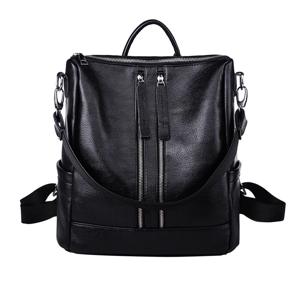 Mojoyce новое прибытие летние женщины рюкзак простой повседневная школа сумка среднего размера кожа рюкзак девушки ежедневно мешок