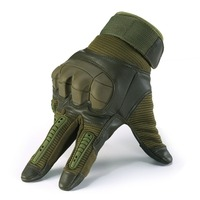 Touch Screen Military Tactical Rubber Hard Knuckle Half Finger Gloves Army Paintball Shooting Airsoft Bicycle PU Leather for Men