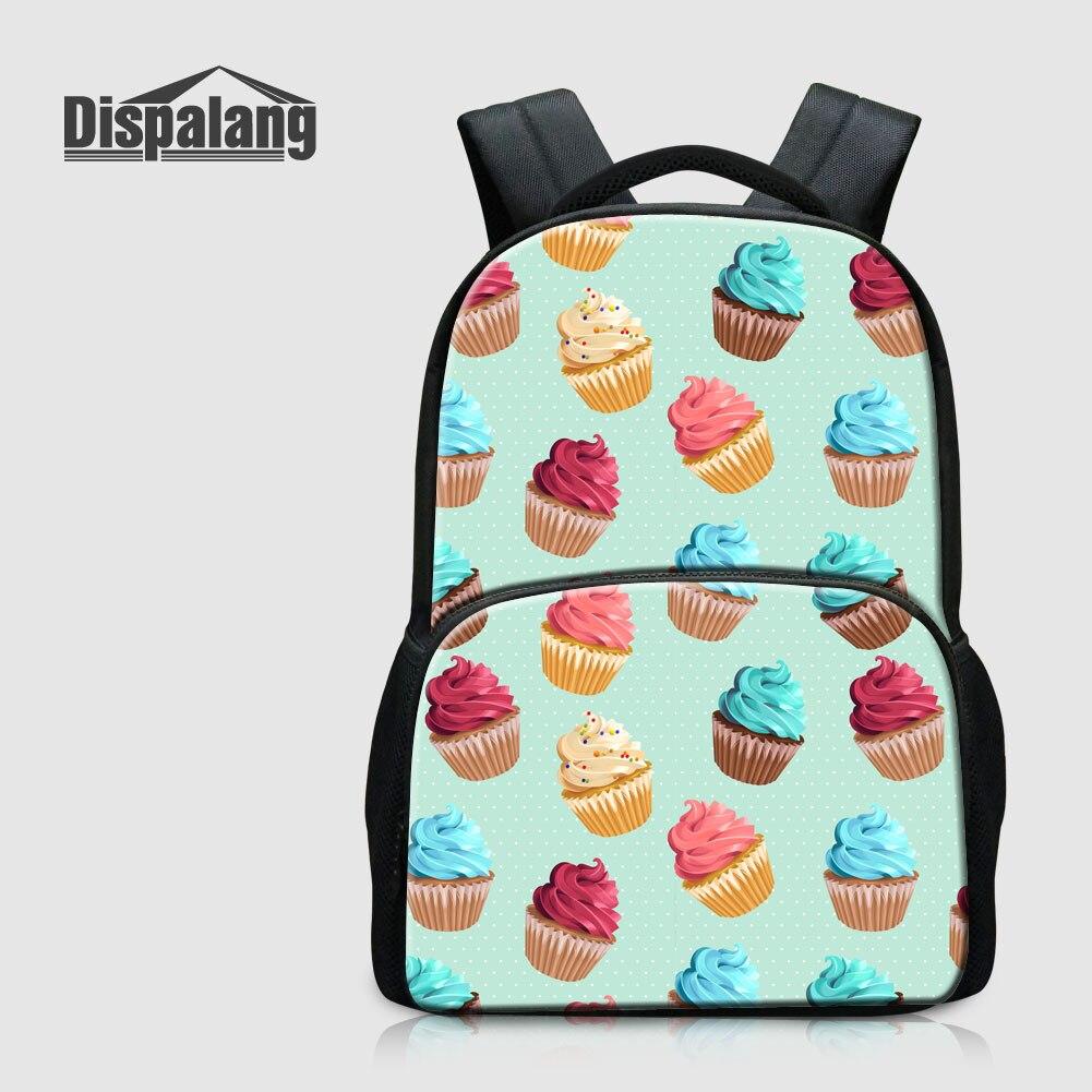 Dispalang Women Fashion Traveling Backpack For Laptop Notebook Icecream Printed School Bag For Children Mochila Escolar Rucksack