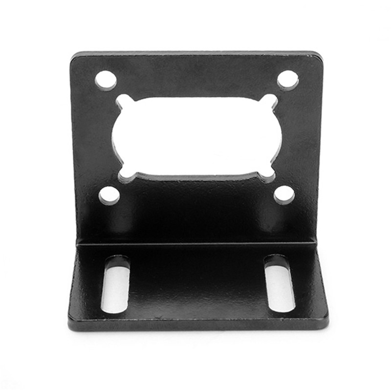 Black L-shaped Mounting Bracket Holder Motor Base for 370 495 Worm Gear Motor