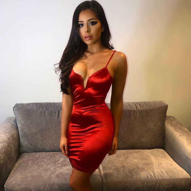 Kobiety lato Bodycon suknie 2019 Sexy sukienka bandażowa typu halter kobiety bez rękawów formalna Party klub urodziny Mini sukienki Vestidos