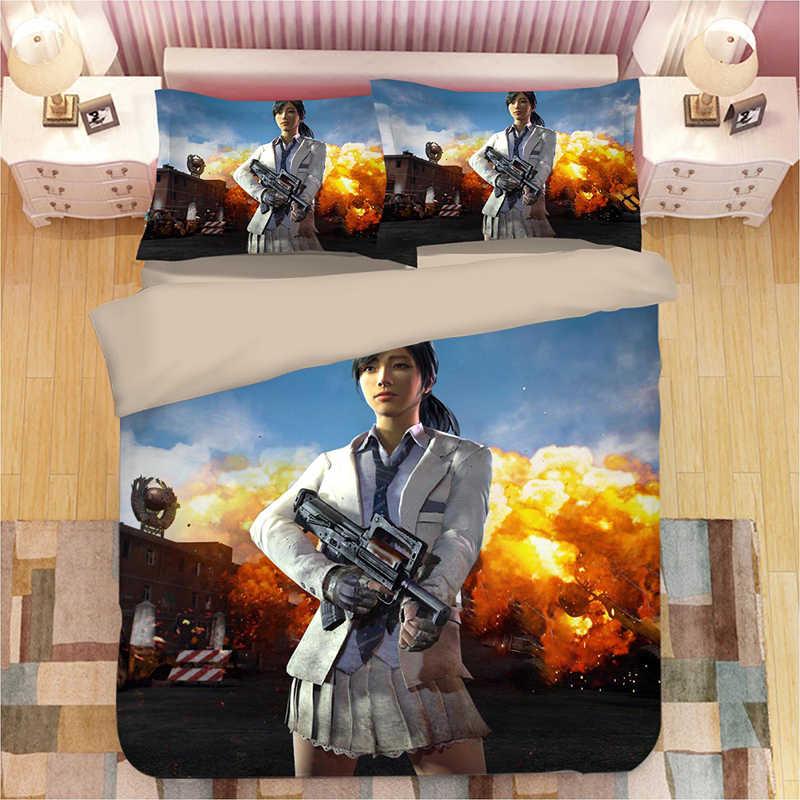 PLAYERUNKNOWN'S BATTLEGROUNDS 3D постельные принадлежности набор пододеяльников наволочки PUBG одеяло постельный комплект s постельное белье