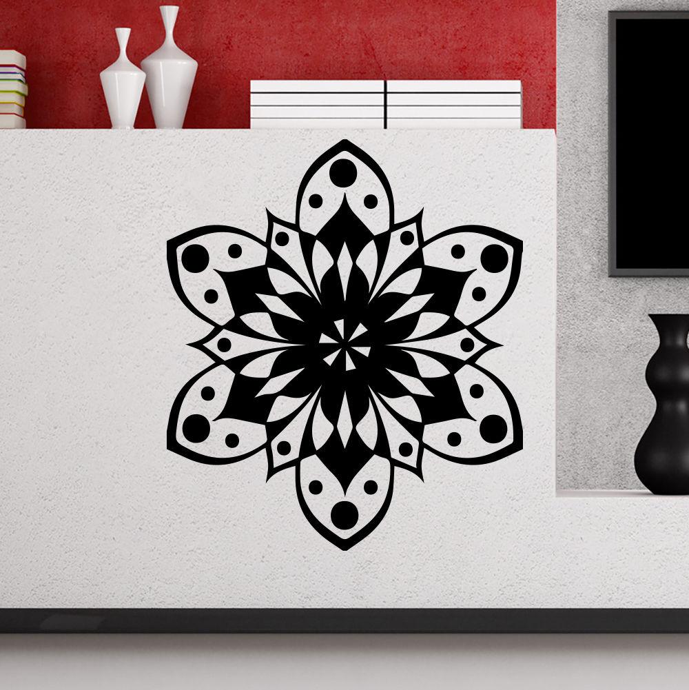 ᗐDecalques de pared mandala om Yoga flor patrón dormitorio ...