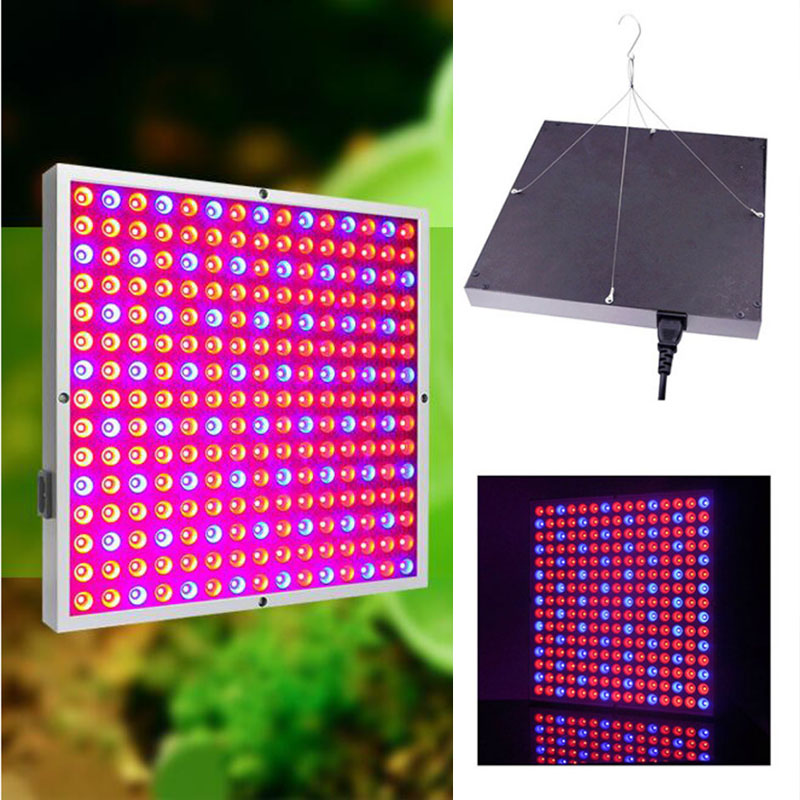 45W 225 LED Plant Grow Panel light Growing Lamps Lamp kit For Greenhouse Hydroponics Flower Vegetable indoor room grow tent box 2016 new led grow panel 165w led grow light 1131red 234blue led plant lamp for flowers grow box tent greenhouse grows lighting