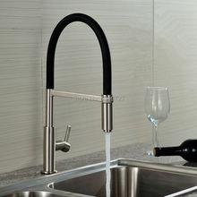 Neu Patent Design 360 Swivel 100% Massivem Messing Einzigen Handgriff mischer Waschbecken Tippen Pull Out Unten Küchenarmatur In Gebürstetem Nickel