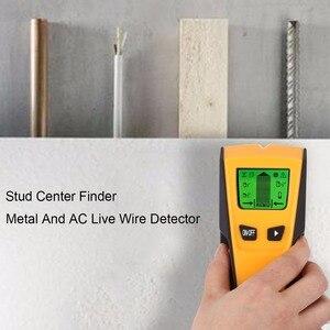 Image 3 - Detector de Metales 3 en 1 de Floureon, escáner de pared de cable vivo de voltaje CA, Detector de caja eléctrica portátil de Metal con pasador de madera