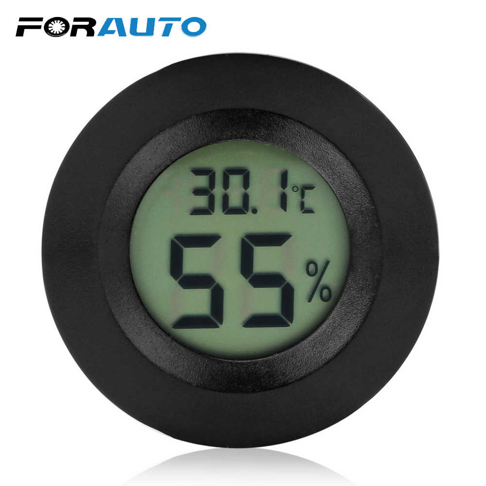 FORAUTO 2 In 1 LCD Digital Thermometer Hygrometer Car Ornaments Automobiles Dashborad Decor Interior Accessories Car-Styling
