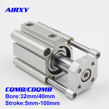 Free Shipping CQMB/CDQMB smc type bore 32/40mm stroke 5-100mm compact rod guide pneumatic cylinder control system CDQMB32-10 smc type air cylinder cqmb cdqmb bore 40mm stroke 5 10 15 20 25 30mm double acting compact rod guide pneumatic ram cylinder