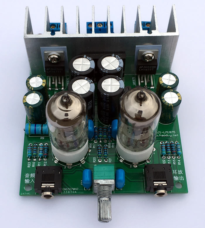 HiFi Fever <font><b>6j1</b></font> Electronic Tube Pre Push <font><b>Lm1875t</b></font> Small Power Amplifier, Biliary Power Amplifier Board Ear DIY Set image