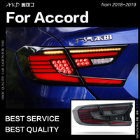 AKD Car Styling for Honda Accord Tail Lights 2018 2019 Accord LED Tail Lamp Rear Lamp DRL Flash Dynamic Signal auto Accessories