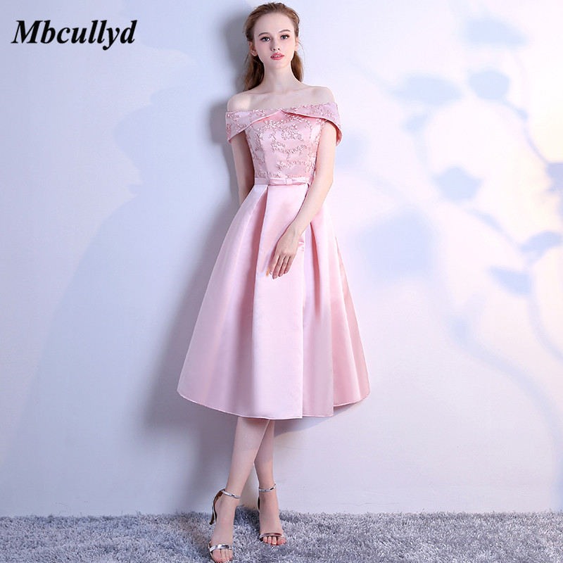 Mbcullyd Pink   Bridesmaid     Dresses   Cheap 2018 Strapless A Line Sleeveless Long Tea Length Plus Size Country Wedding Guest   Dress