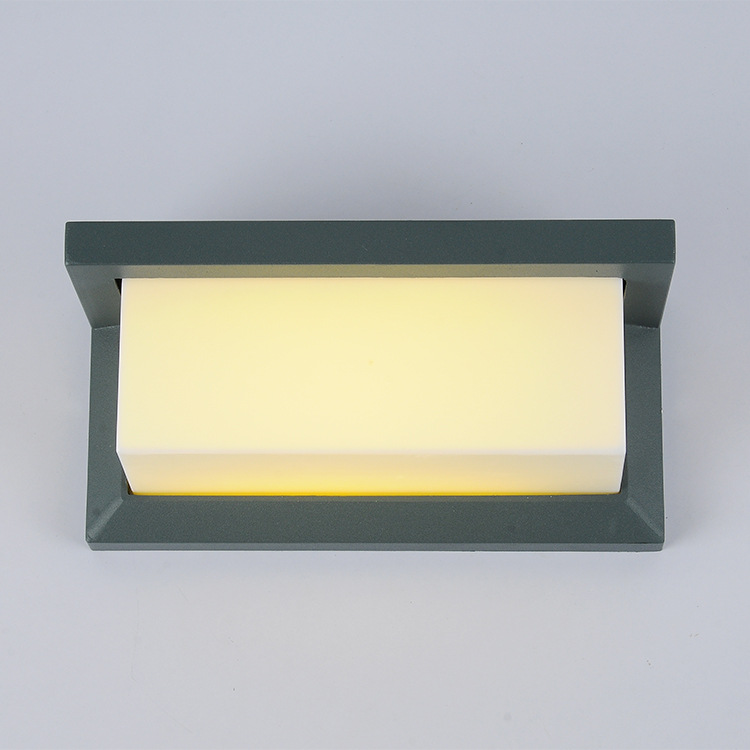 Waterproof LED Porch Light Surface Mounted Outdoor LED Wall Lamp Aluminum Decoration Exterior Outdoor Lamp For Hallway Fence 1 piece light grey aluminum extrusion profiles heatsink wall mounted distribution case 24x80x90mm
