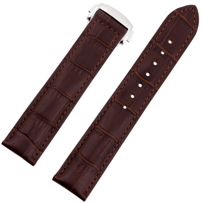 цены  Croco Pattern Genuine Casfskin 19mm 20mm 22mm Replacement Watchband Watch Straps For Brand Watch