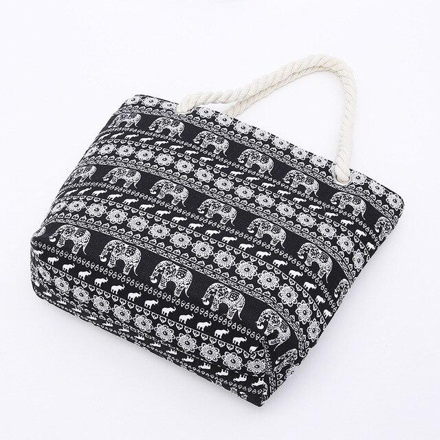 Women Canvas Beach Bag Fashion Color Stripes Printing Handbags Ladies Large Shoulder Bag Totes Casual Shopping Bags 2