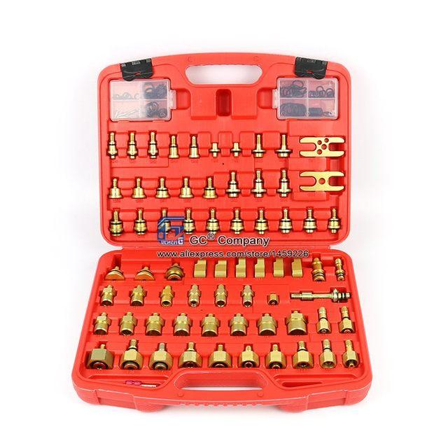 Universal Asien Auto Leck Detektor Stecker Adapter Set A/C Reparatur Werkzeug für A/C Klimaanlage Kältemittel system