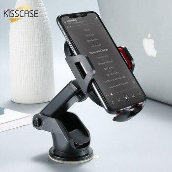 KISSCASE uchwyt samochodowy do telefonu iPhone XR XS Max 6 6S Plus antygrawitacyjny uchwyt na telefon na kratkę wentylacyjną klip stojak na telefon do Xiaomi POCO F1