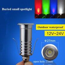 LED Deck Step Stair Underground ground Garden Light Wall Floor Lamp outdoor led focus recessed spotlight IP67 1W 12V Waterproof