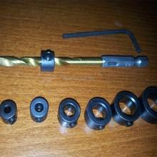 7 шт., 3-12 мм, сверло, глубина, стопорное кольцо, деревообрабатывающее сверло, шестигранный ключ, глубина сверла, стопорное кольцо, сверла, точные отверстия