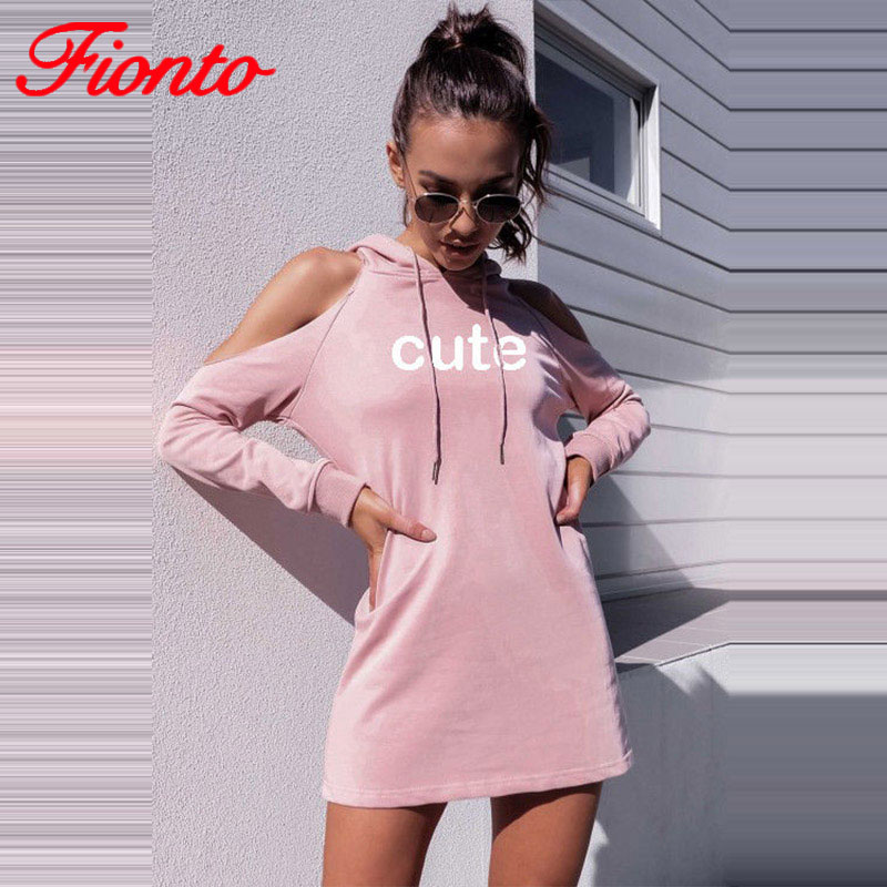 Simple Dress Female Summer Sexy Slim Long Sleeve Women Dress Hooded Collar Straight Off Shoulder Soft Dresses For Women A2417