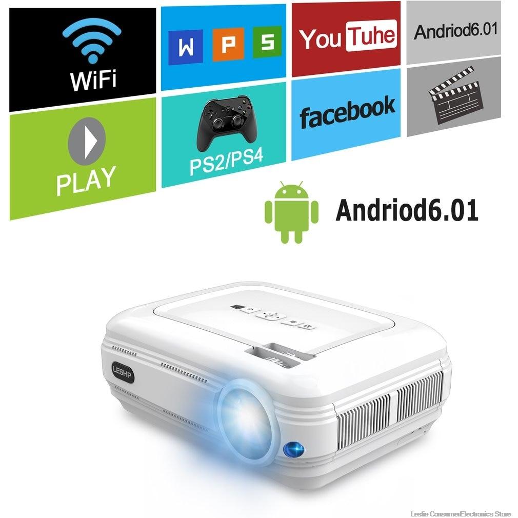 BL58 projecteur LED projecteur vidéo blanc Portable Home cinéma cinéma jeu projecteur HDMI VGA USB WIFI pour Android chaud
