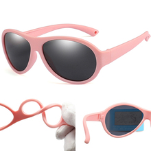 Fashion Silicone Kids Sunglasses Oval Polarized Glasses for Children Girl Boy Baby Flexible Candy Color Soft Goggles