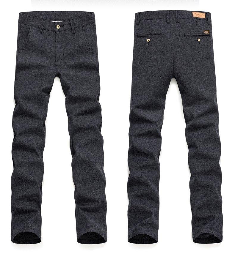 HTB19cG4QgHqK1RjSZFgq6y7JXXav 2019 Autumn Winter New Men's Slim Casual Pants Fashion Business Stretch Thicken Trousers Male Brand Plaid Pant Black Blue