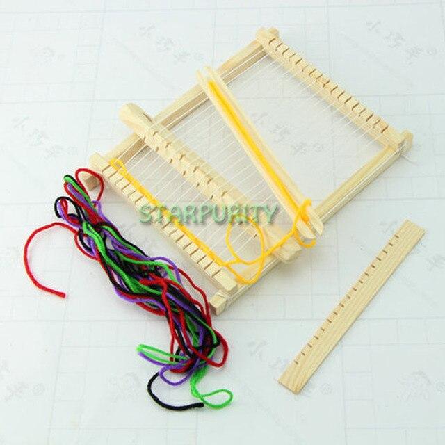 Us 569 Handmade Mini Legno Telaio Per Tessitura Semplice Handworked Tessile Macchina Learing Strumenti Bambini Bambini Fai Da Te Giocattolo
