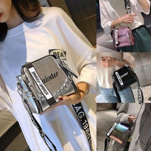 Handtasche Schulter Taschen Tote Geldbörse PU Leder Neue Frauen Taschen Geldbörse Leder Handtasche Messenger Tasche Laser Kreuz Körper
