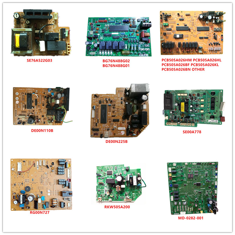 SE76A522G03/ BG76N488G02/ BG76N488G01/ PCB505A026/ DE00N110B/ DE00N225B/ SE00A778/ RG00N727/ RKW505A200/ MD-0282-001 Used Work