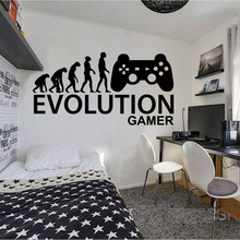 лучшая цена Gamer Ps4 wall decal Eat  Game wall decal Controller video game wall decals Customized For Kids Bedroom Vinyl Wall Art A1-015