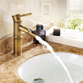 European antique copper retro bamboo lever basin mixer taps Art Basin Above hot and cold faucet