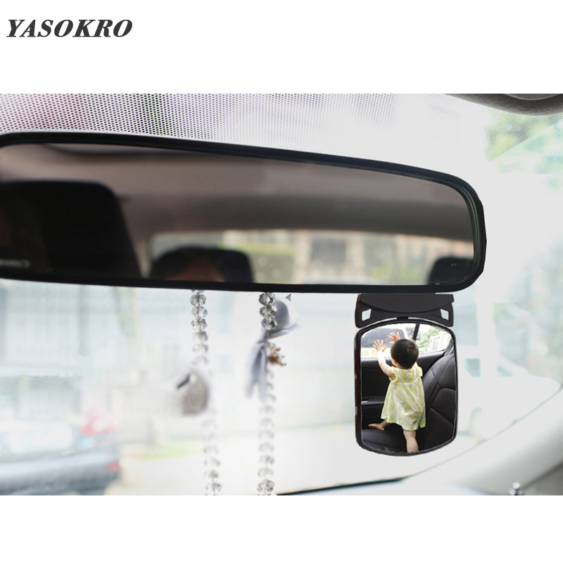 Car Back Seat View Baby Mirror Mini Children Rear Convex Mirror Adjustable Auto Kids Monitor Safety Reverse Safety Seat