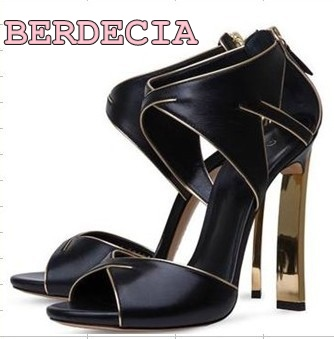 summer new fashion Women's shoes high heel sandals black gold white peep toe shoes high heel ladies dress shoes free shiopping asumer black apricot fashion summer ladies shoes cross tied peep toe high heel sandals shoes elegant wedding shoes thick heel