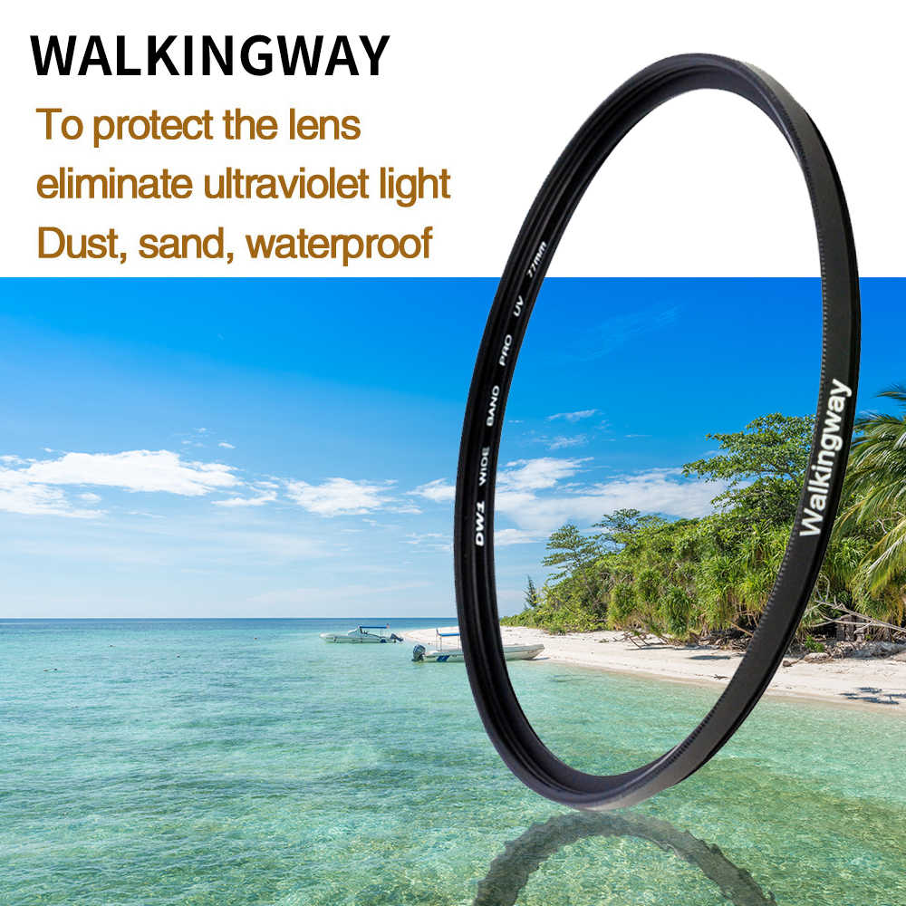 Walkingway UV Filter 52 Mm 77 Mm Kamera Filter Ultra-Violet Pelindung Lensa Filter 49 55 58 62 67 72 82 Filter untuk Canon Sony Nikon