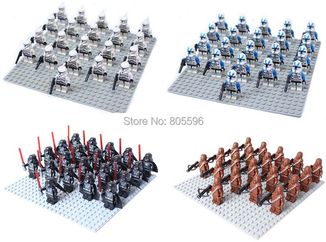 21pcs Stormtrooper clone trooper Darth Vader Darth Maul star wars Building Block Brick sand trooper Sluban figures