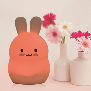 Image 4 - Rabbit LED Night Light Touch Sensor 9 Colors USB Battery Powered Silicone Bunny Bedroom Bedside Lamp for Children Kids Baby Gift