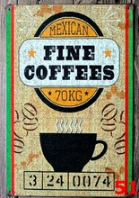 1pc Coffee cappuccino shop Latte Mexico plaques Tin Plate Sign wall man cave Decoration Poster metal vintage retro shabby garage