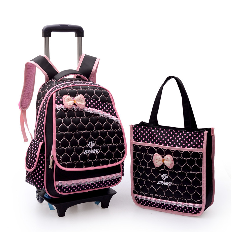 Aliexpress.com : Buy Children Trolley School Bags Rolling Mochilas ...