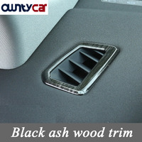 Black Ash Wood Trim Dashboard AC Outlet Vent Frame Cover For Land Rover Discovery Sport 2015
