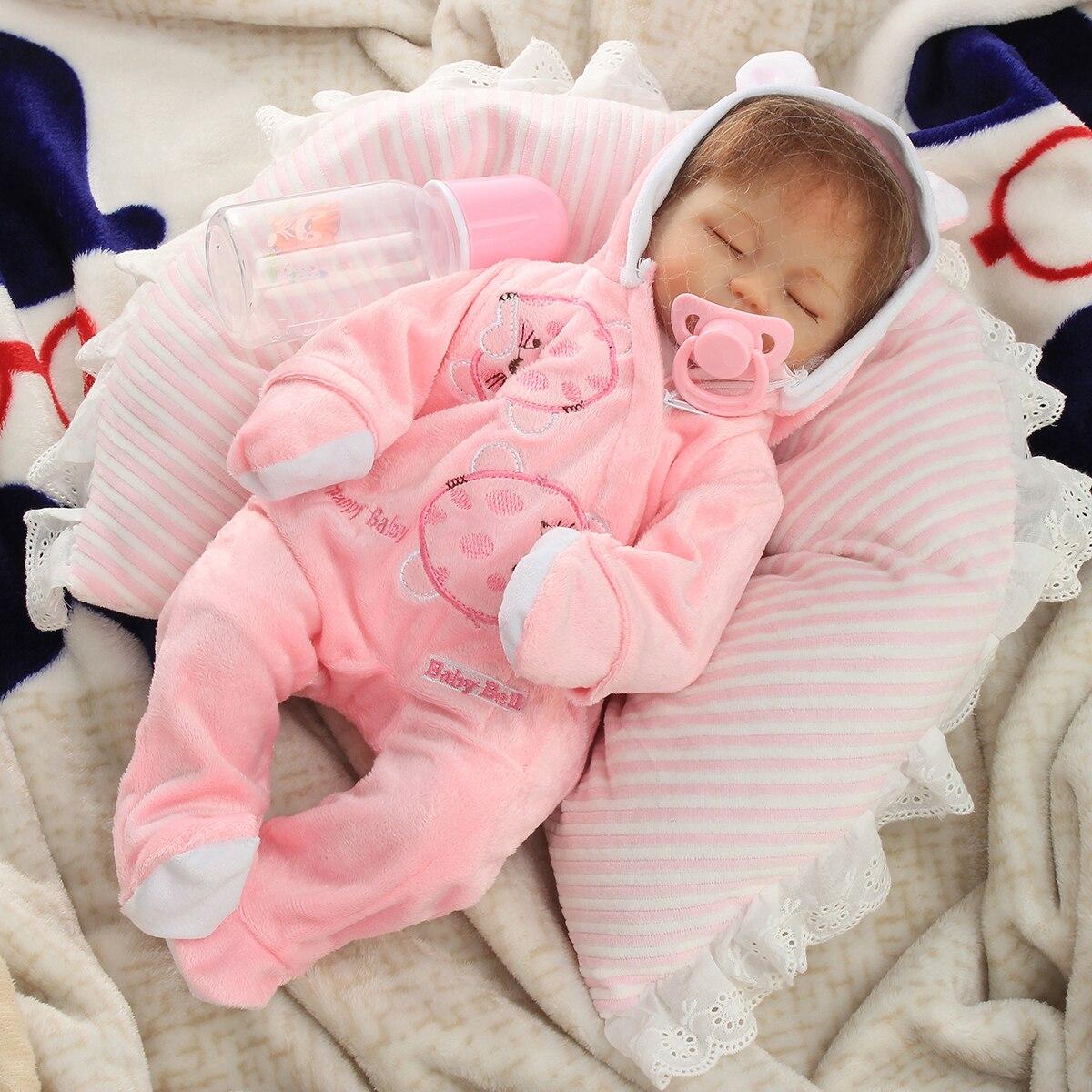 16/'/' Realistic Lifelike Reborn Baby Doll+Clothes Sleeping Newborn Girl Gift