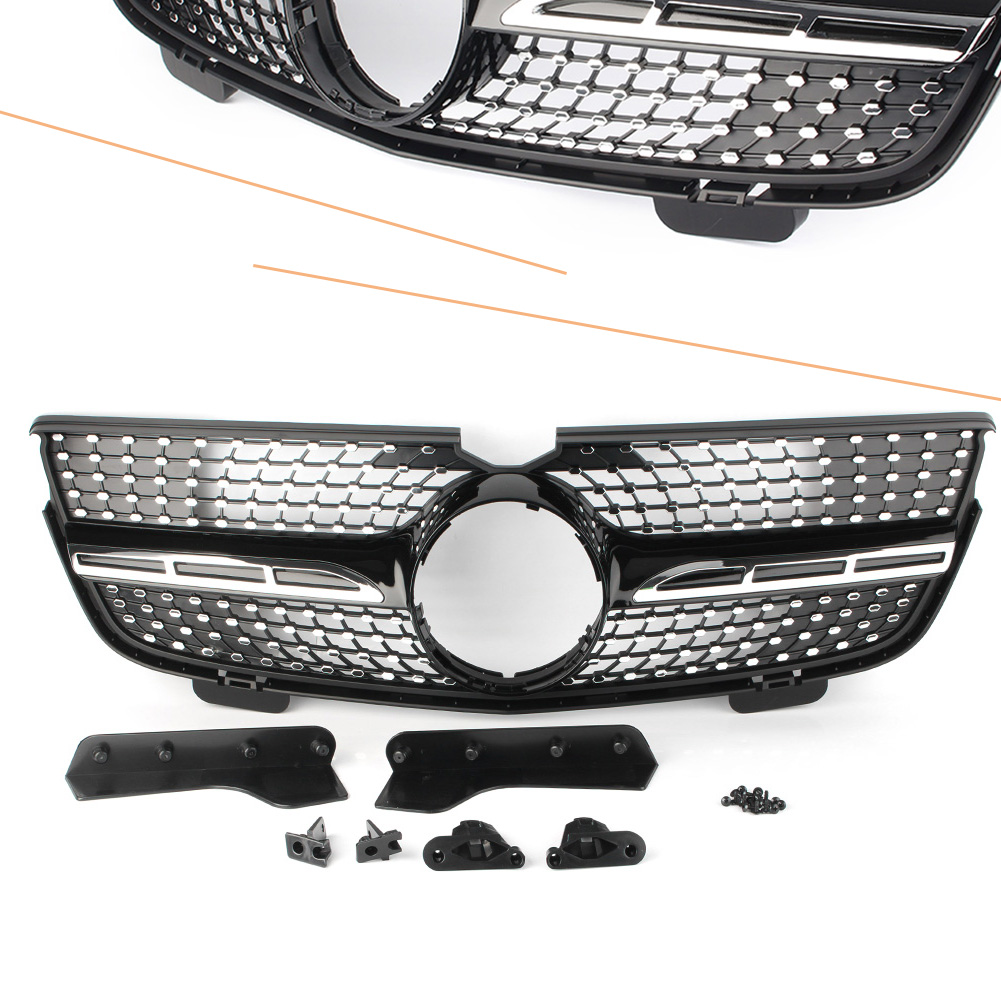 For Mercedes Benz GL Class X164 Auto Car Front Grille Upper Grill GL450 2007 2012 GL350