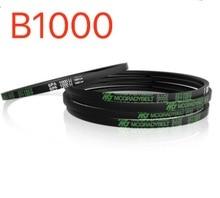 2PCS/LOT  Industrial V-belt B1000 rubber conveyor belt transmission